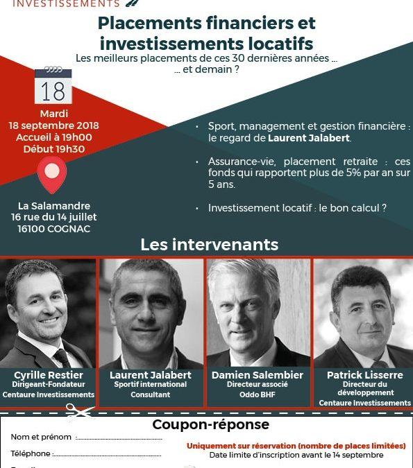 Conférence : placements financiers et investissements locatifs