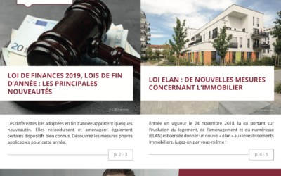 Impôts – placements – immobilier : l'information patrimoniale du 1er trimestre 2019