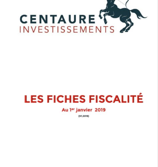 LES FICHES FISCALITÉ 2019