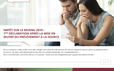 Impôts – placements – immobilier : l'information patrimoniale du 2ème trimestre 2019