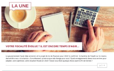 Impôts – placements – immobilier : l'information patrimoniale du 4ème trimestre 2019