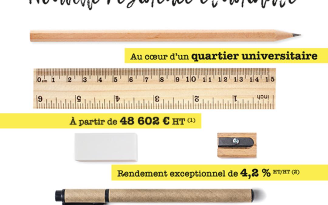 Investir en résidence pour étudiants «LE FOKUS» à PAU (64)